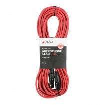 Chord 12m Professional High Quality Balanced 3Pin XLR Cable (Red)