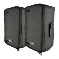 """2x Citronic 15"""" Padded Speaker Carry Bag"""