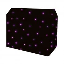 Equinox DJ Booth Quad LED Starcloth System (Black Cloth)
