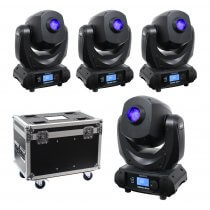 4x Equinox Midas Spot Moving Head 60W Lighting Effect Disco DJ Bundle
