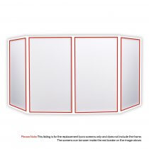 4x Equinox Lycra Cloth DJ Screen Replacement Panels (White)