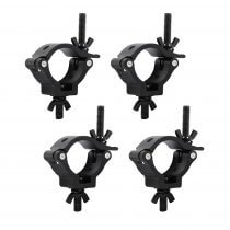 4x Equinox TC25B Aluminium 25kg Black Half Coupler 33 - 38mm Truss Clamp