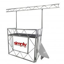 Equinox Truss Booth Complete Setup inc. Booth, Gantry and Shelves