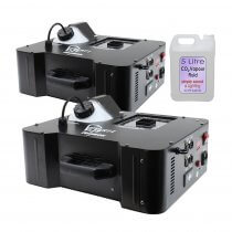 2x Equinox Verti Jet Fog Machine Vertical Smoke CO2 Effect Blast DMX 1500W