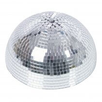 Eurolite Half Mirror Ball Motorised 30cm 300mm Disco Glitter Ball Party Mirrorball