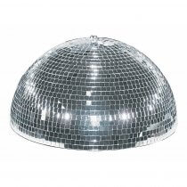 Eurolite Half Mirror Ball Motorised 20cm 200mm Disco Glitter Ball Party Mirrorball