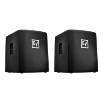 2x Electro-Voice (EV) ELX200-18SP Padded Covers