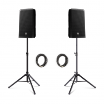 "2x Electro-Voice (EV) ZLX-12P 1000w 12"" Active Speakers inc. Stands and Cables"