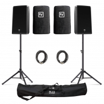 "Electro-Voice (EV) ZLX-15BT 15"" 1000W Powered Loudspeaker with Bluetooth inc. Covers, Stands and Cables"