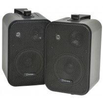 av:link Stereo Background Black Speakers 30W Pair