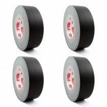 4x Gafer.PL Max 50mm x 50m Gaffa Tape (Black Matt)