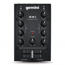 Gemini MM1 2 Channel Compact DJ Mixer