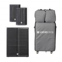 "HK Audio Lucas 2K18 Active Sound System 2.1 18"" 2000W DJ PA + Covers"
