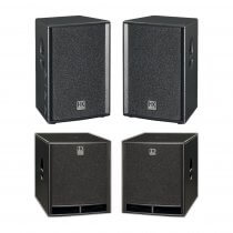 "HK Audio Premium PRO Passive 12"" Speaker Package 3600W DJ Sound System"
