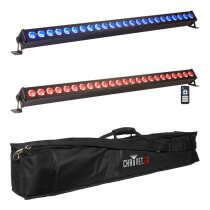 2x Ibiza Light 1M LED Batten inc. Carry Bag & Remote