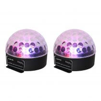 2x Ibiza Light Astro LED Ball Lighting Effect