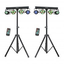 2x Ibiza Light Derby FX Bar inc. Stands and Remote