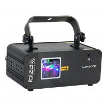 Ibiza Light Blue Graphic Laser 300mW DMX Lighting Effect DIsco DJ inc Remote