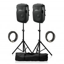 "Ibiza Sound XTK10A Active Speaker 10"" 600W Sound System DJ Disco Package"