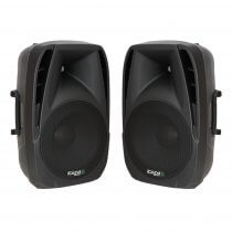 "2x Ibiza BT10A Active Speaker 10"" 500W PA System Bluetooth DJ Disco"