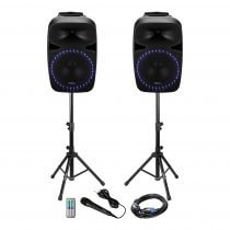 Ibiza Sound PKG15A-SET 1000W Sound System with Bluetooth & USB inc. Microphone