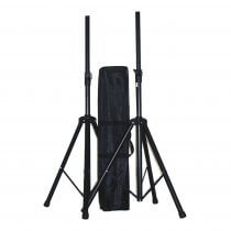 Ibiza Sound SS01B Speaker Stand Pair inc. Carry Bag