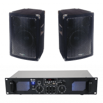 Ibiza Sound & QTX 700w Sound Syatem with Bluetooth, USB, SD & FM Player