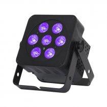 LEDJ Slimline 5Q5 Uplighter Par Can 7Hex6 LED DMX Black