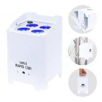 LEDJ Rapid QB1 Wireless LED Uplighter (RGBW) in White Housing