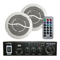 LTC MFA-1200 Stereo Amplifer & 2 x Ceiling Speaker 100W Bathroom Kitchen