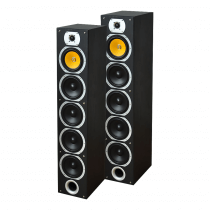 LTC Audio V7B-MA 440W Floor Standing Speakers (Black)