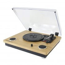 Madison Vintage Turntable Vinyl Record Player Bluetooth Bulit In Speakers HiFi Sound System