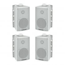 4x Monacor ESP-215/WS Weatherproof Outdoor Speaker 100V Background Sound System
