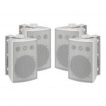 Monacor ESP-250/WS 100V Weatherproof White Background Speaker PA