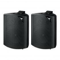 Monacor EUL-60/SW 100V Black Speaker Pair Sound System inc Bracket