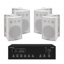 Monacor ESP-230/WS Wateproof IP65 Outdoor Sound System Bluetooth PA Speaker