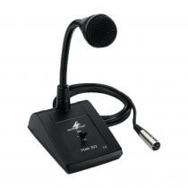 Monacor PDM-302 Dynamic Desk Microphone Paging Mic Sound System PA