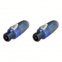 2x Neutrik NA4LJK Professional Speakon to Jack Adaptors