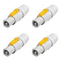 4x Neutrik Powercon NAC3FCB Speaker Plug