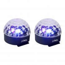 2x Party Light & Sound Astro 6 LED Light Effect