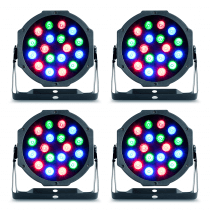 4x Party Light & Sound 18W Indoor LED PARs