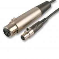 Pro Signal XLR Female 3P to Mini XLR 3P Lead Cable for Wireless Transmitter 1.5M