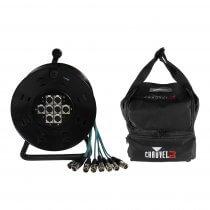 Pulse 8 Way XLR Multicore Drum Stage Box (15m) inc. Carry Bag