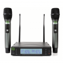 Q Audio QWM1960 Handheld UHF Dual Channel Wireless Mic System