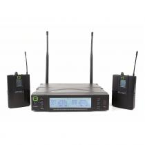 Q Audio QWM1960BP UHF Dual Channel Wireless Bodypack System