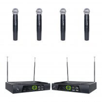 Q Audio QWM11 Quad Handheld Radio Mic System (Bundle)