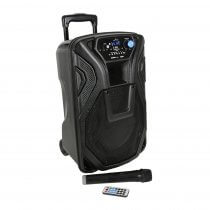 QTX Busker-10 Portable PA System Bluetooth VHF Wireless Microphone inc Slip cover