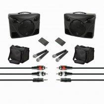 2x QTX Delta 50 Portable Sound inc. 2x Wireless Mic