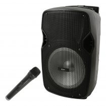 "QTX PAL10 10"" Portable Speaker inc. Bluetooth and Wireless Mic"