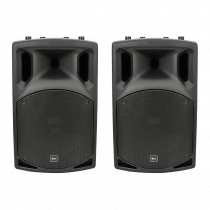 "2x QTX QX12A 12"" 400W Active PA Speakers"